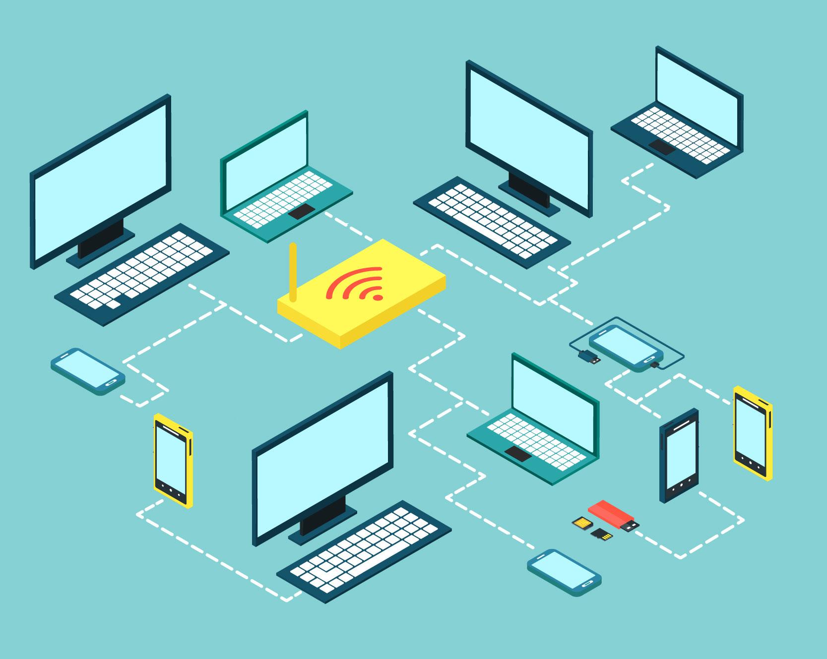 Netzwerkinstallation., Netzwerkverkabelung, Installation der Netzwerkdosen