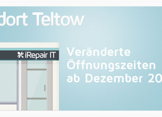 ServiceStore Teltow - Veränderte  Öffnungszeiten ab Dezember 2017!