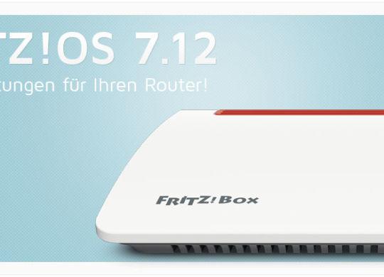 Fritz!Router - Fritz!OS 7.12